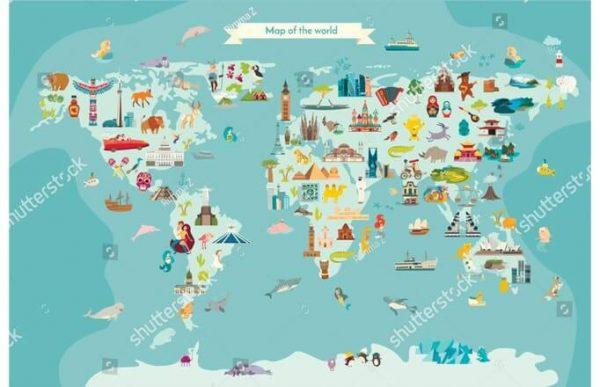 Фотообои Детская ледяная карта