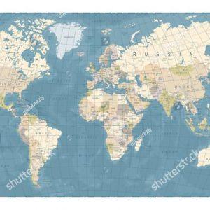 Фотообои Карта с меридианами