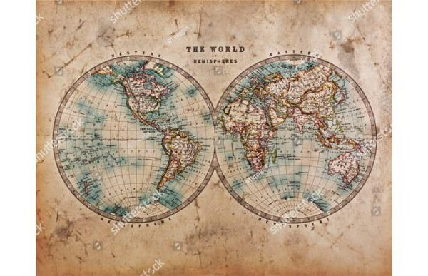 Фотообои Полусферы мира