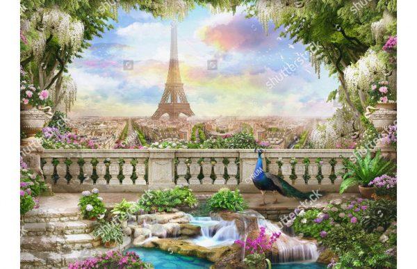 Фотообои Вид с балкона на Париж